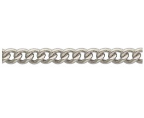 9ct White Gold Heavy Close Curb Chain Bracelet