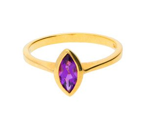 9ct Yellow Gold 0.70ct Amethyst Solitaire Ring