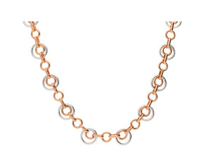 9ct Rose & White Gold Fancy Necklace