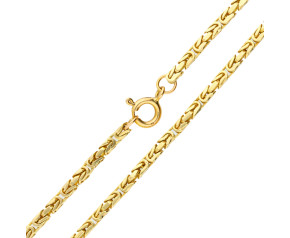 """Pre-owned Gold 18"""" Byzantine Chain Necklace"""