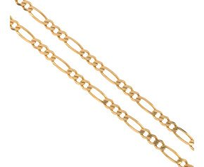 Pre-Worn 9ct Gold Figaro Chain Necklace