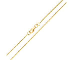 18ct Yellow Gold 1.10mm Baby Snake Chain