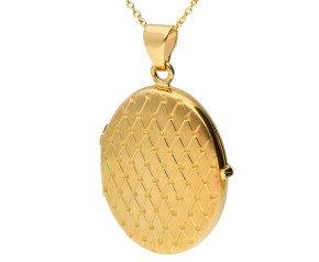 9ct Yellow Gold Fancy Oval Locket