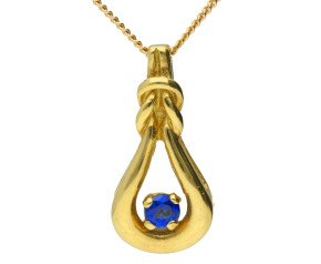 18ct Yellow Gold Sapphire Fancy Pendant