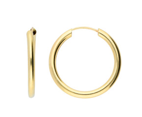 9ct Gold 20mm Chunky Sleeper Hoop Earrings
