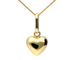 9ct Yellow Gold Heart Pendant