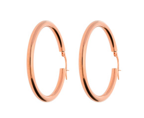 9ct Rose Gold 30mm Hoop Earrings