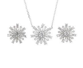 Sterling Silver Earrings & Pendant Set