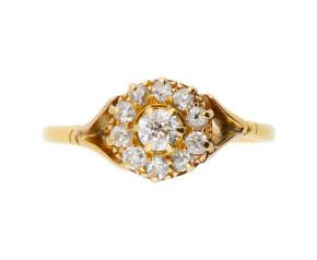 Antique Victorian 0.55ct Diamond Cluster Ring