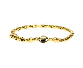 Vintage 9ct Yellow Gold Sapphire & Ruby Fancy Bracelet