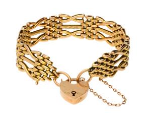 Vintage 9ct Yellow Gold Gate Bracelet