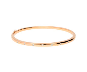 18ct Rose Gold 0.26ct Diamond Hinged Bangle