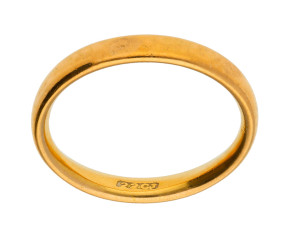 Vintage 22ct Gold Court 3.00mm Wedding Band