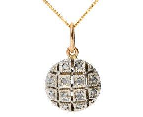 Handcrafted Italian 0.10ct Diamond Cluster Pendant