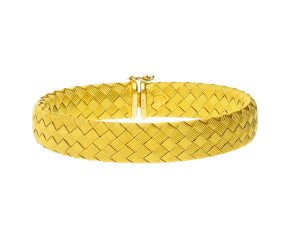 Pre-owned 9ct Yellow Gold Braided Bracelet