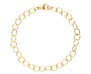 9ct Yellow Gold 5.9mm Light Trace Chain Bracelet