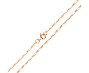 9ct Rose Gold 1.64mm Curb Chain