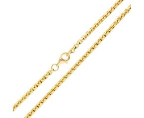 9ct Yellow Gold 2.67mm Box Belcher Chain