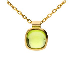 9ct Yellow Gold Peridot Solitaire Pendant