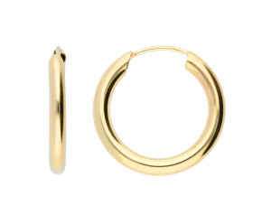 9ct Yellow Gold 15mm Chunky Sleeper Hoop Earrings