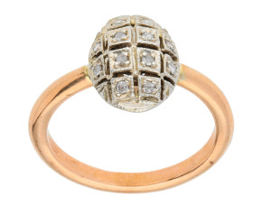 Handcrafted Italian Diamond Cluster Ring