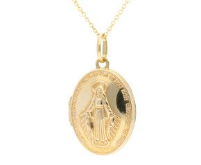 9ct Yellow Gold Miraculous Medal Locket