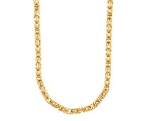 Pre-owned Men's Fancy 6.8mm Byzantine Tube Chain