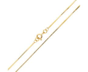 9ct Yellow Gold Venetian Box Chain