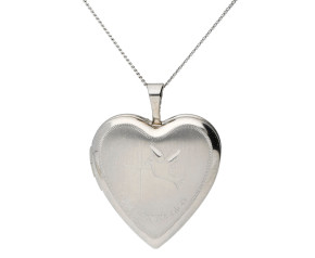 Silver Heart First Communion Locket