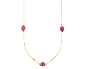 9ct Yellow Gold Fancy Ruby Necklace