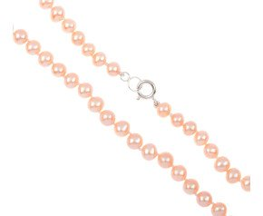 Freshwater Peach Pearl Necklace