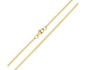18ct Yellow Gold 1.82mm Curb Chain