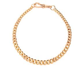 9ct Rose Gold Graduated Curb Bracelet