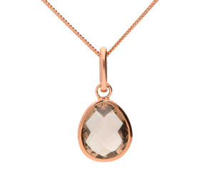 9ct Rose Gold 2.20ct Smoky Quartz Pendant