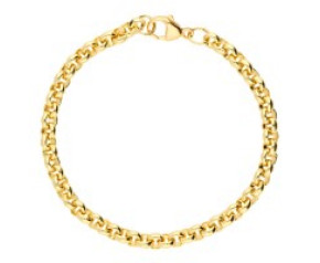 18ct Yellow Gold 5.08mm Round Belcher Bracelet