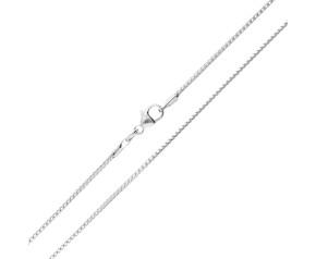 9ct White Gold 1.04mm Franco Chain