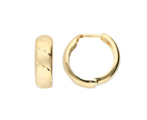 9ct Yellow Gold 12mm Hoop Earrings