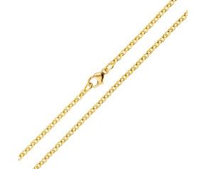 18ct Yellow Gold 2.25mm Baby Belcher Chain