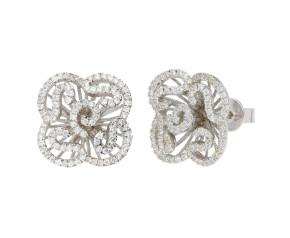 Sterling Silver Mini Cascade Stud Earrings