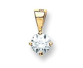 18ct Yellow Gold 0.35ct Diamond Solitaire Pendant