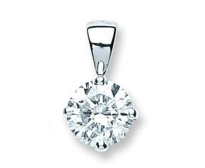 18ct White Gold 1ct Diamond Solitaire Pendant