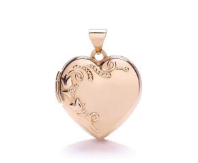 9ct Rose Gold Heart Locket
