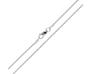 9ct White Gold 1.10mm Filed Franco Chain
