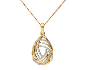 9ct Yellow Gold & Diamond Fancy Pendant