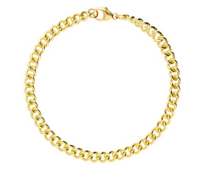 9ct Yellow Gold 4.87mm Heavy Close Curb Chain Bracelet