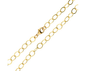 9ct Gold Hammered Trace Chain