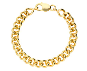 9ct Yellow Gold 8.20mm Heavy Close Curb Chain Bracelet