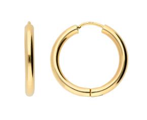 9ct Yellow Gold Sleeper Hoop Earrings