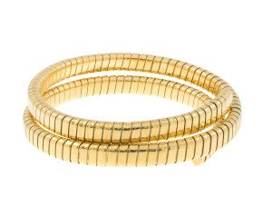 Pre-Worn Wrap Around Coiled Bangle