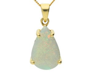 9ct Yellow Gold 2.45cts Opal Solitaire Pendant